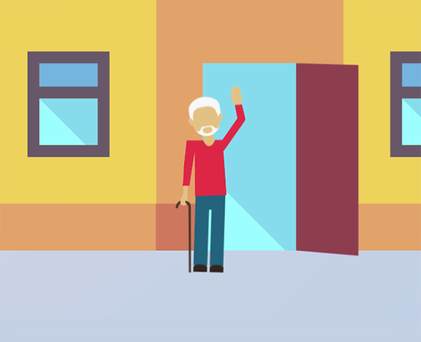 2D motion graphics residential care Calderdale Council