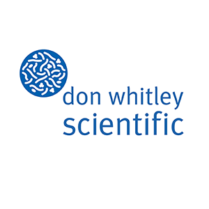 Don Whitley Scientific logo in blue