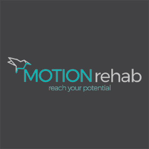 logo for neurophysiotherapist Motion Rehab animation Yorkshire