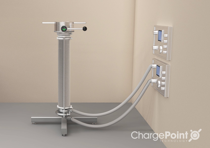 3D product image of a ChargePoint wash lance